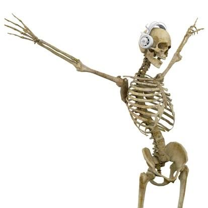 lactose intolerant strong bones dancing skeleton image