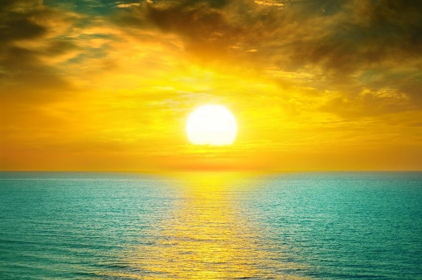 calcium supplementation sunset over ocean image