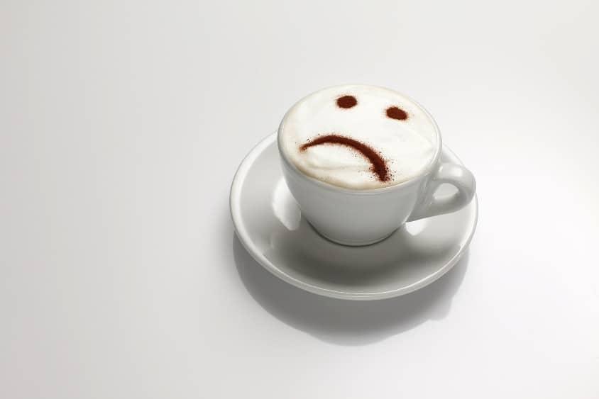 coffee sad face in macchiato image