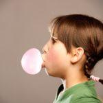 bubble with chewing gum