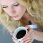 Coffee consumption woman drinking coffee image
