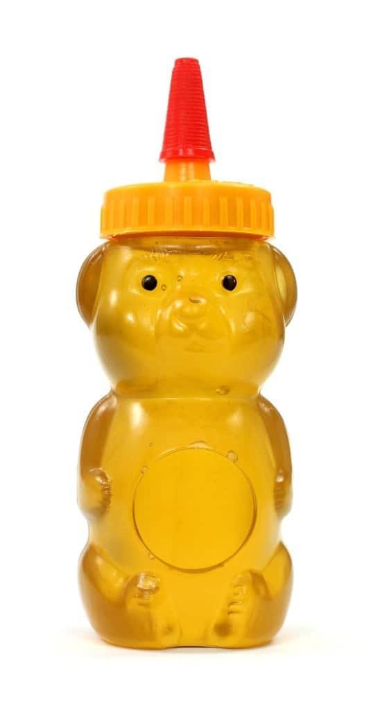 honey eaters beware plastic honey bear image