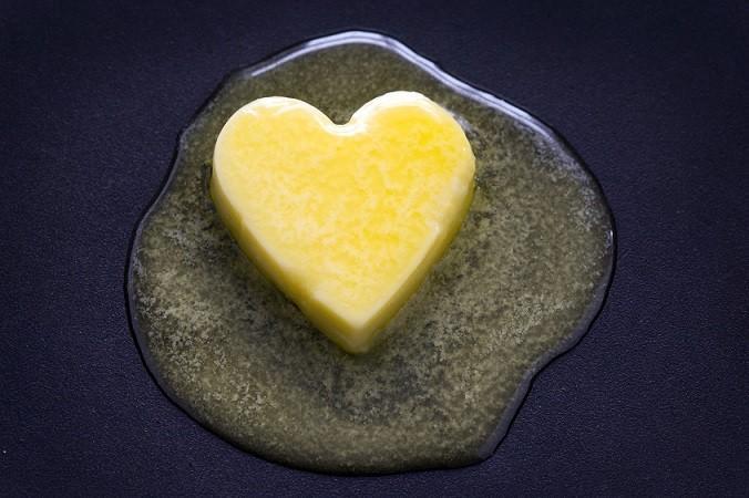 ghee cleanse butter heart melting image
