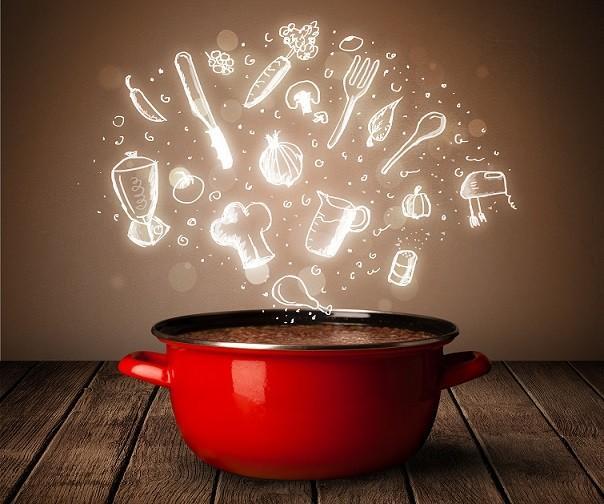 pot ingredients cooking food