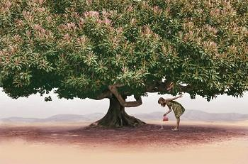 LifeSpa Longevity, Image of Small Girl Watering Large Tree