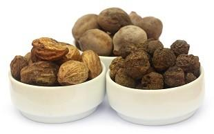 Triphala is a combination of three ayurvedic fruits: Amalaki, Bibhitaki and Haritaki.