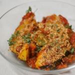 Breaded Lemon-Coriander Acorn Squash with Marinara Sauce