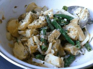 Lemon-Miso Potato and Green Bean Salad