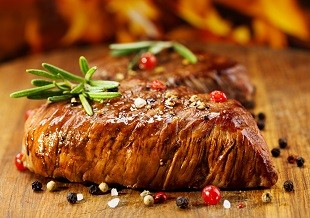 lifespa image, cut of steak with salt, pepper and rosemary