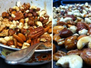 Maple-Rosemary Roasted Nuts