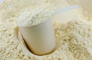 lifespa image, whey protein powder and scooper