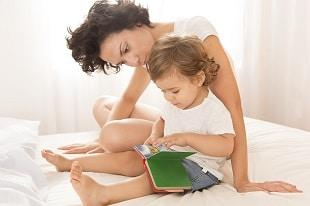 lifespa image, mothers voice, mother and child reading
