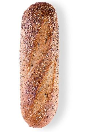 lifespa image, gluten, wheat, crusty loaf whole grain bread with seeds