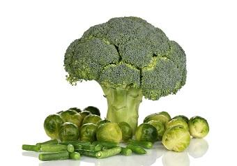lifespa image, home eye and vision care, broccoli, brussel sprouts and green beans