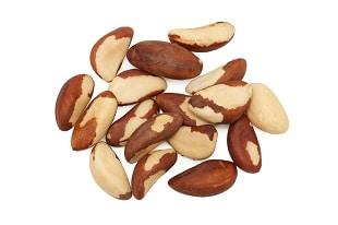 lifespa image, food toxins, brazil nuts, white background