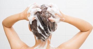 lifespa image, hair products, woman washing hair
