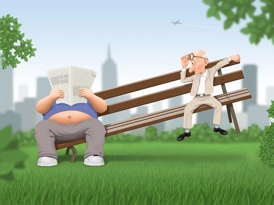 lifespa-image-obesity-in-america-cartoon-men-on-bench