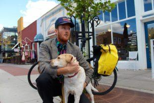 Waylon Lewis | Elephant Journal Founder | Boulder, Colorado | With his Bike and his Dog