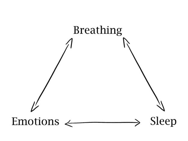 breathing emotions sleep