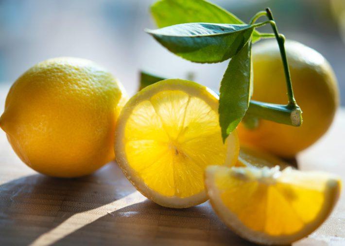 sliced lemons and sunlight