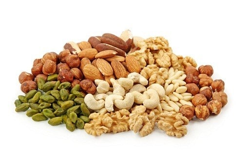 protein deficiency Group of nuts image