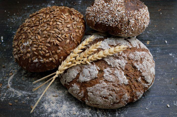 Loaves of bakery bread.